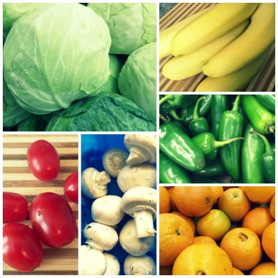 The beauty of vegetables and fruits…