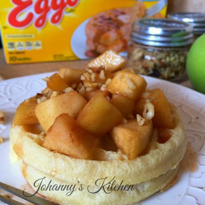 Eggo® Waffles with apple and cinnamon compote