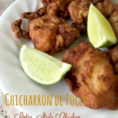 chicharrón de pollo (boneless deep-fried chicken bites)