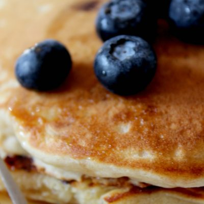 Homemade Blueberry Pancakes (Breakfast in one pan)