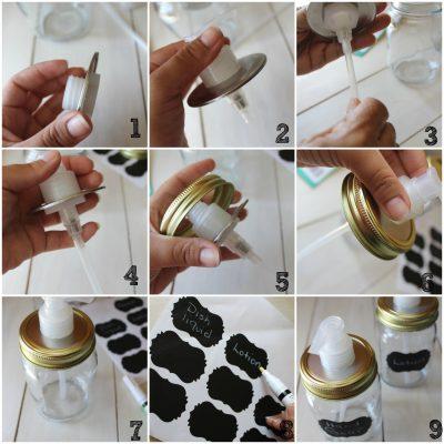 DIY Mason Jars Dispensers