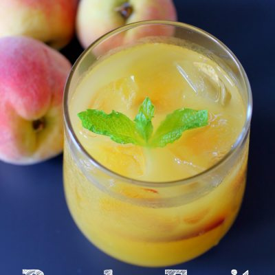 Peach Picking + Fruit Punch with fresh peaches