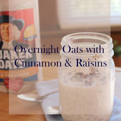 cinnamon raisins overnight oats
