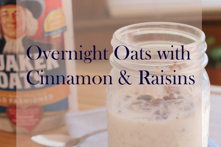 cinnamon raisins overnight oats