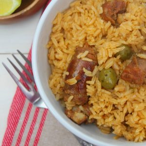 arroz con longaniza