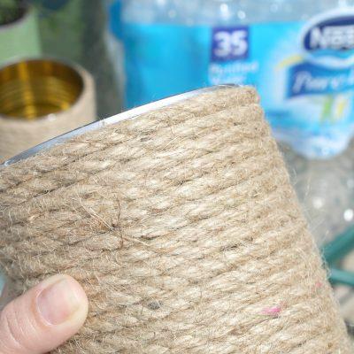 Gardening DIY: Tin Can Plant Holders