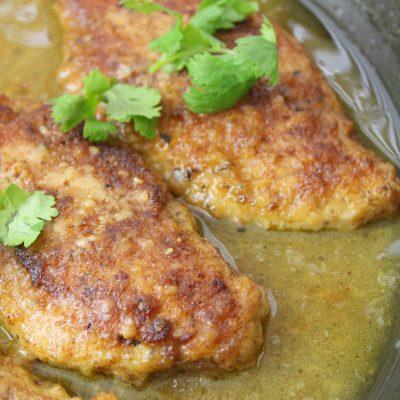 Oven-baked lemon chicken