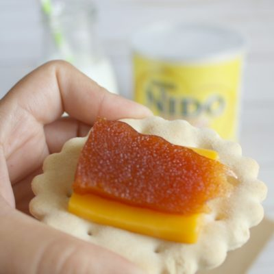 Crackers with cheese and guava paste+Growing up Latin@