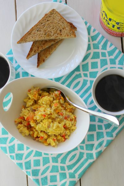 Thank God for Coffee! +Dominican Scrambled Eggs recipe