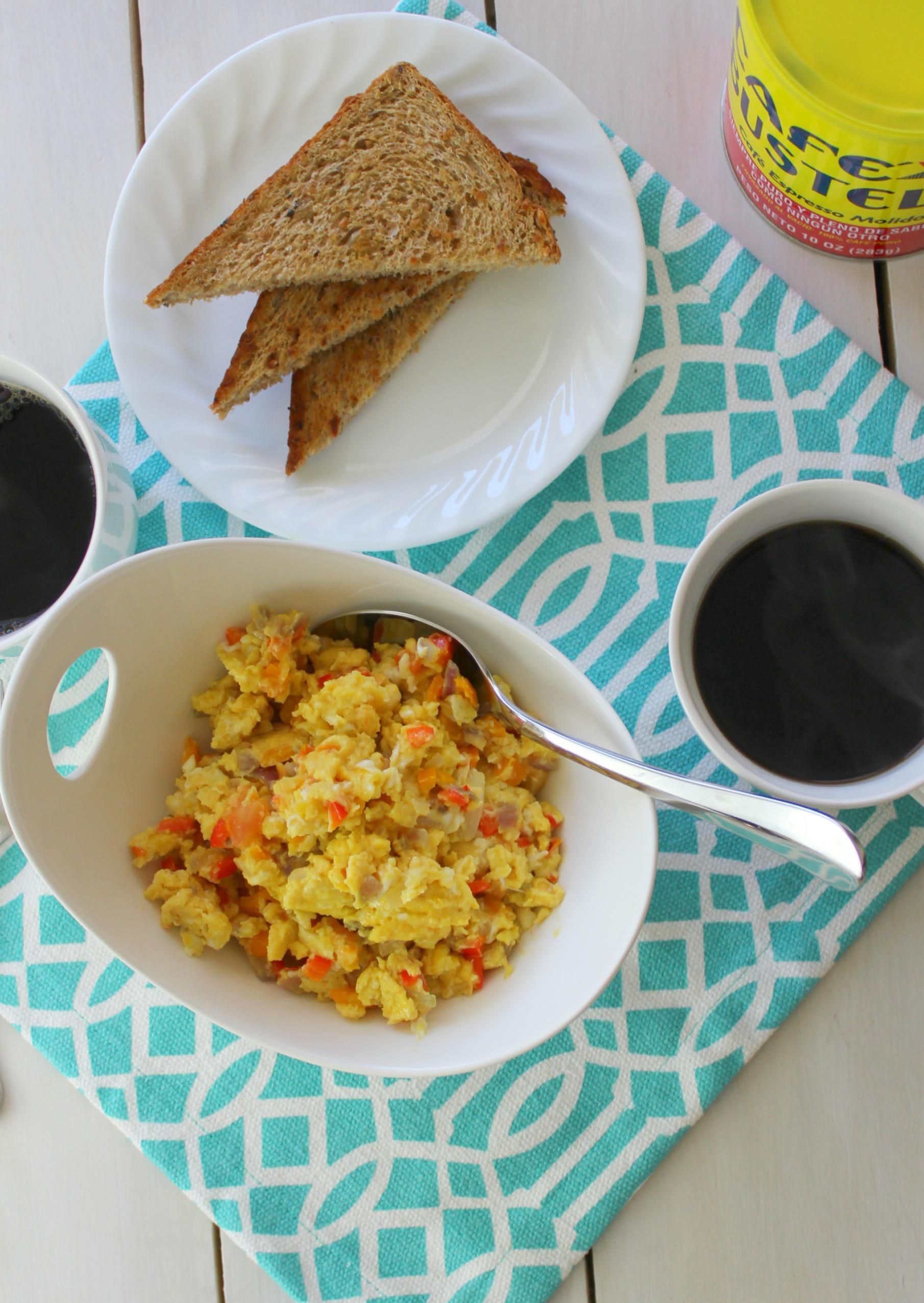 Thank God for Coffee! +Dominican Scrambled Eggs recipe – Johanny\'s ...