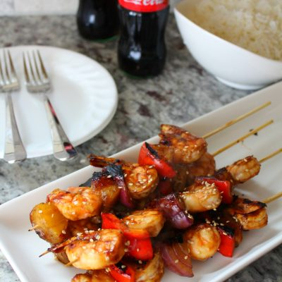 Cook with award-winning chef and television personality Aaron Sanchez + Recipe for Grilled Teriyaki Shrimp Skewers