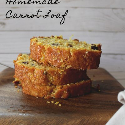 Carrot Bread with Coconut flakes, Walnuts and Raisins